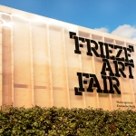 Outdoor sign, reading 'Frieze Art Fair,'