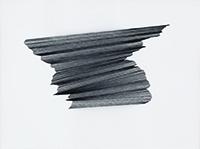 Abdolreza Aminlari, Composition 16, 2012,  thread on paper. COURTESY LONGHOUSE PROJECTS