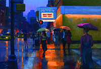 Joseph Peller, Summer Evening, 2014, oil on linen. COURTESY ACA GALLERIES