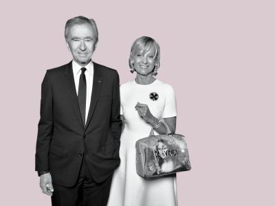 Hélène and Bernard Arnault