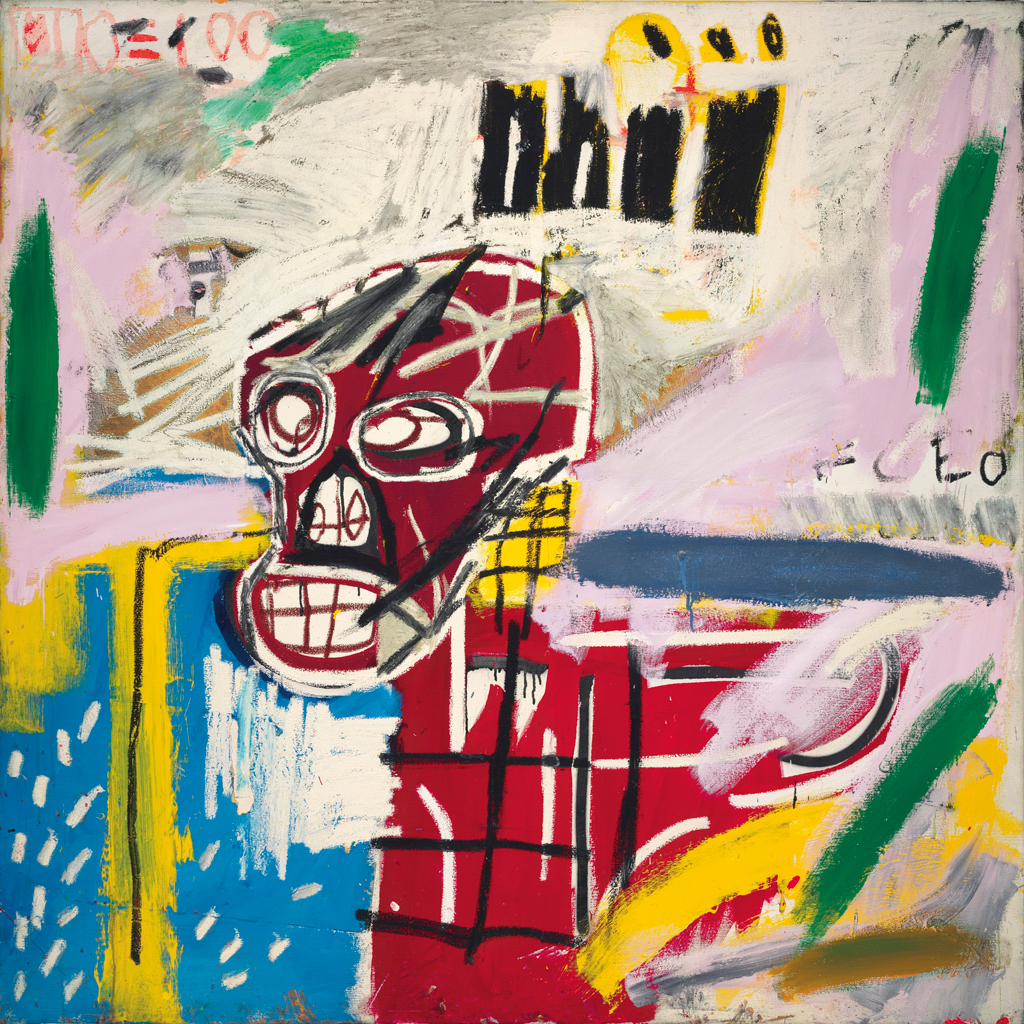 New Jersey Home Painting From J S Painting: Basquiat's 'Red Skull,' Sold At Christie's In London For