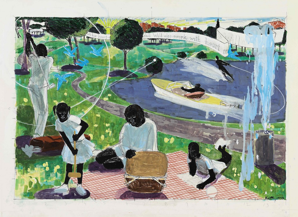 Art Advisor Joel Straus to Sell Kerry James Marshall's Study for Past Times at Sotheby's
