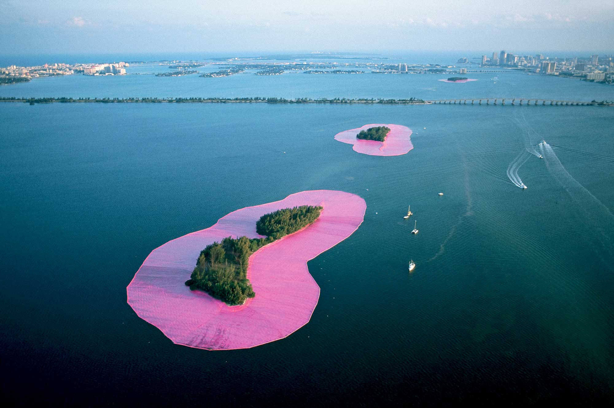 From the Archives: Christo Surrounds Islands in Miami's Biscayne Bay in Fabric, in 1984