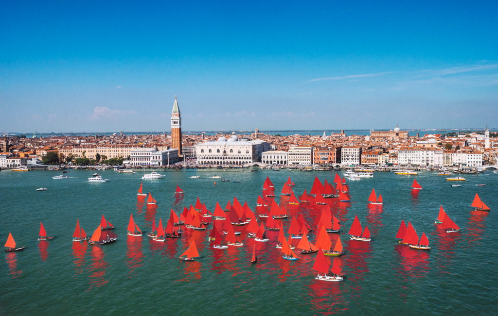 At This Year's Venice Biennale, Blood-Red Regattas Aim to Remind Attendees of Environmental Threats to the City