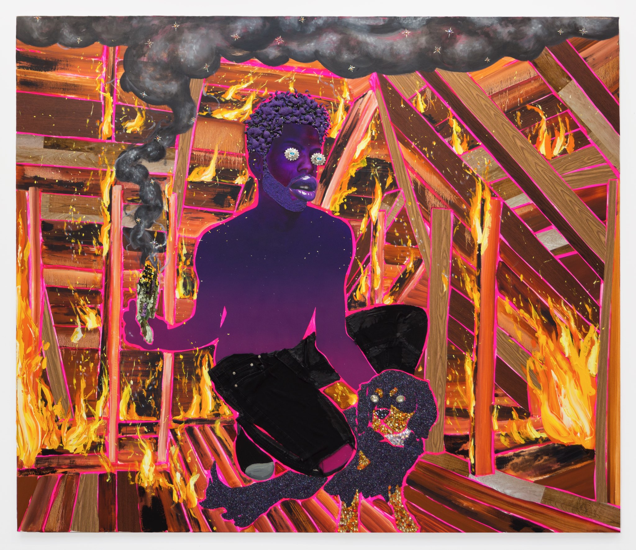 Close to Home: Devan Shimoyama on His Glimmering, Incisive Portraits at Kavi Gupta Gallery in Chicago