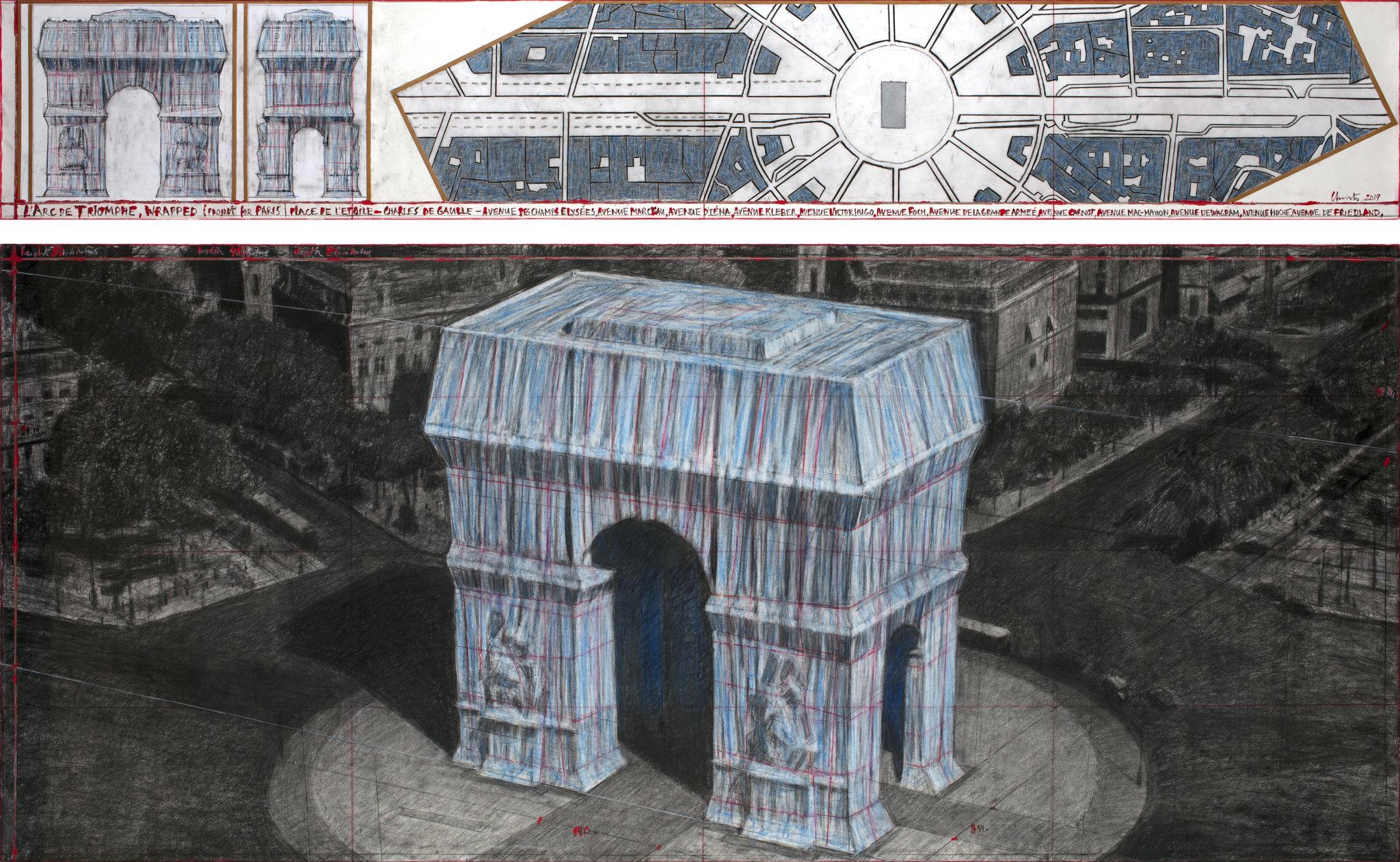 Christo Plans to Wrap Parisian Arc de Triomphe