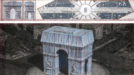 Christo, 'L'Arc de Triomphe, Wrapped (Project