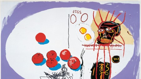 Jean-Michel Basquiat Andy Warhol Eggs