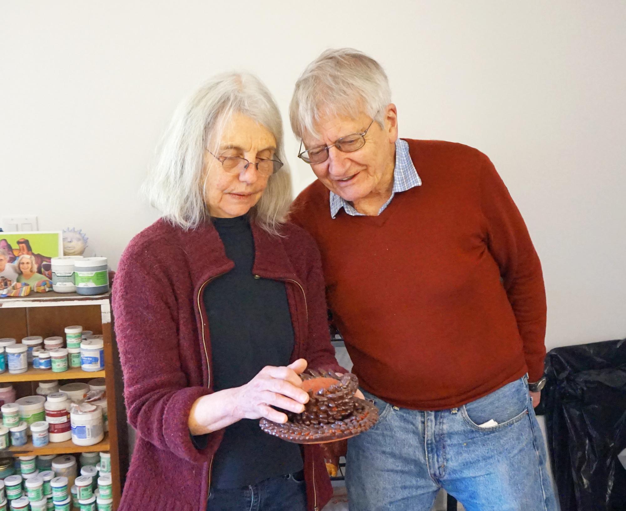 Habitat: Peter and Sally Saul in Studios in Upstate New York