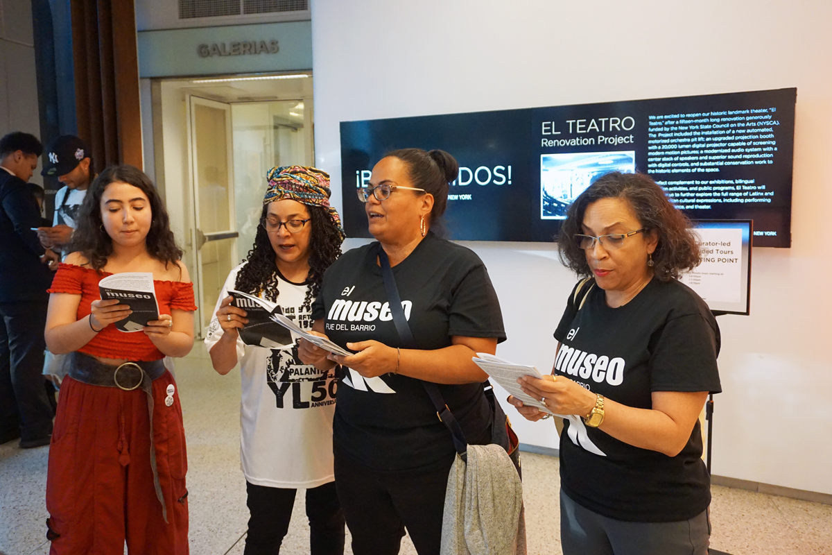 'We Will Not Be Erased': Activists Stage Action at El Museo del Barrio, Demanding Institutional Change