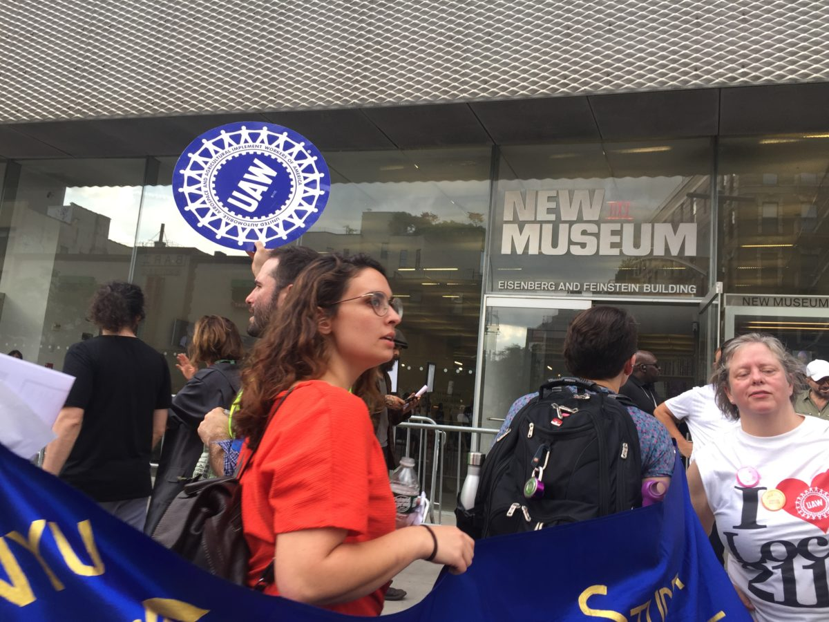 'Worker Power, Every Minute, Every Hour': New Museum Union Stages Action at Opening as Contract Negotiations Continue