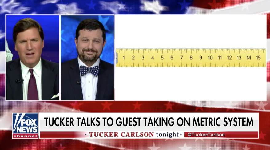 Art Critic James Panero Discusses the Metric System with Far-Right Pundit Tucker Carlson