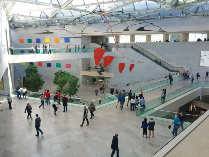 The interior of the National Gallery