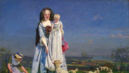 Ford Madox Brown, 'Pretty Baa-Lambs,' 1851–52.