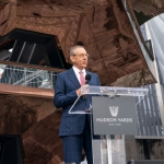 Stephen M. Ross in front of