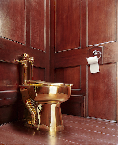 Maurizio Cattelan Golden Toilet Sculpture Stolen from Exhibition in England