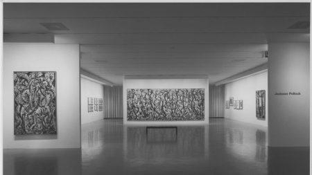 Installation view of 'Jacskon Pollock' at