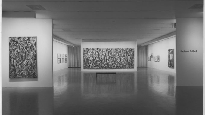 Installation view of 'Jacskon Pollock' at