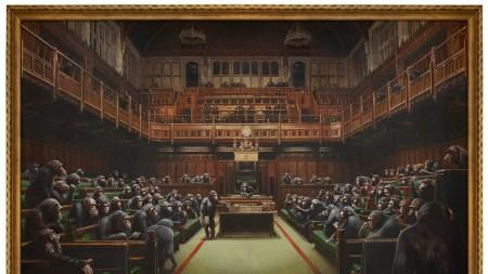 Banksy's Devolved Parliament,' 2009, sold for