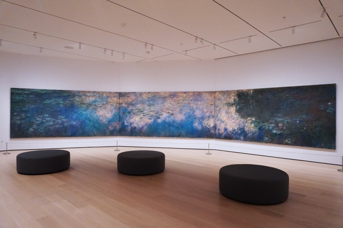Claude Monet's three-panel Water Lilies, 1914–26,