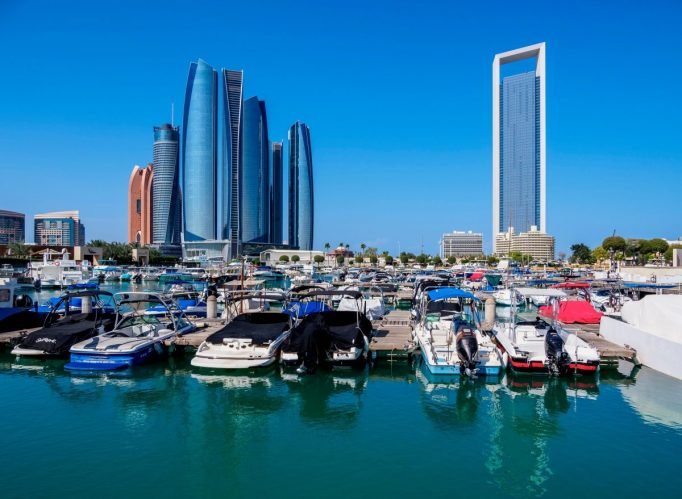 Abu Dhabi's skyline.