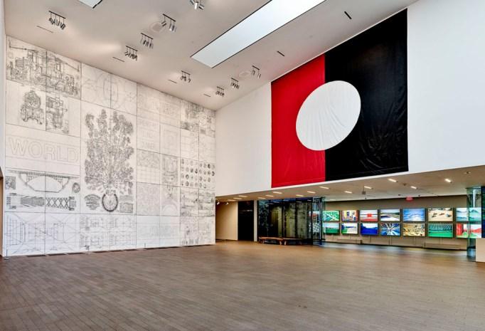 """View of Matt Mullican's exhibition """"Between"""