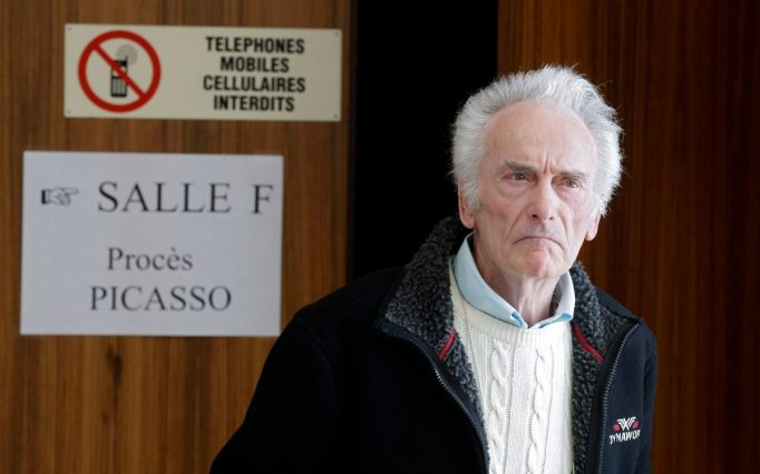 Picasso's electrician leaving a French court.