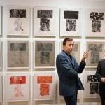 Artist Jasper Johns with art dealer Leo Castelli