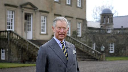 Prince Charles in front of Dumfries