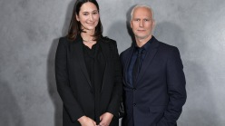 Bettina Korek with Museum of Contemporary Art Los Angeles director Klaus Biesenbach.