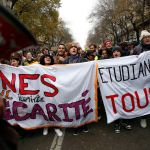 Protesters march through Paris on Thursday