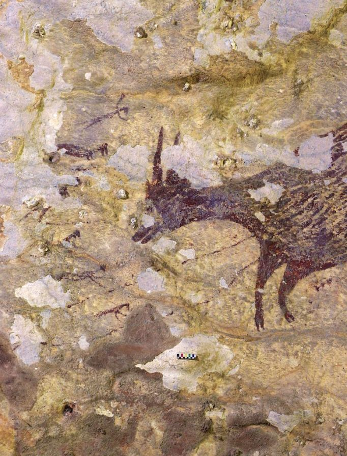 Detail of a hunting scene in