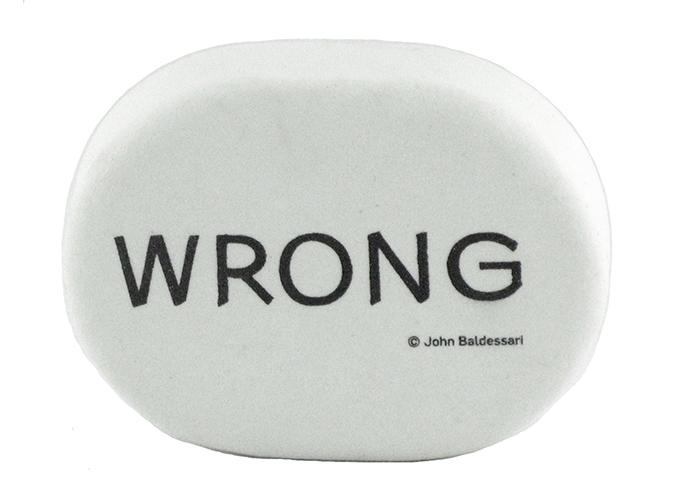 John Baldessari's 'Wrong Eraser.'