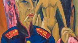 Ernst Ludwig Kirchner, Self-Portrait as a Soldier, 1915.