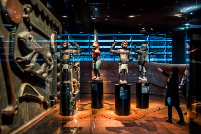 Beninese objects on view at the