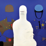 May Stevens, 'Big Daddy Paper Doll,' 1968, acrylic on canvas