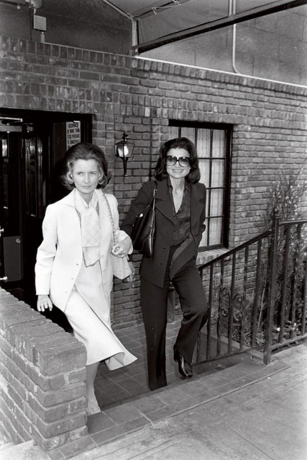 Jayne Wrightsman, left, counted among her