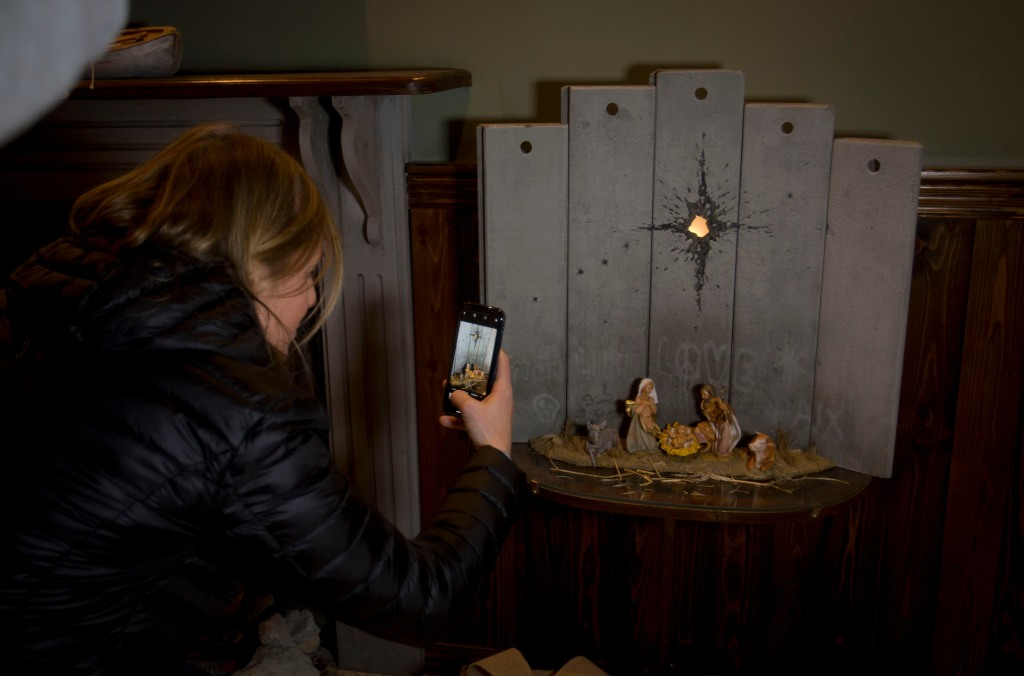 Banksy Unveils 'Modified' Nativity Scene at Bethlehem Hotel