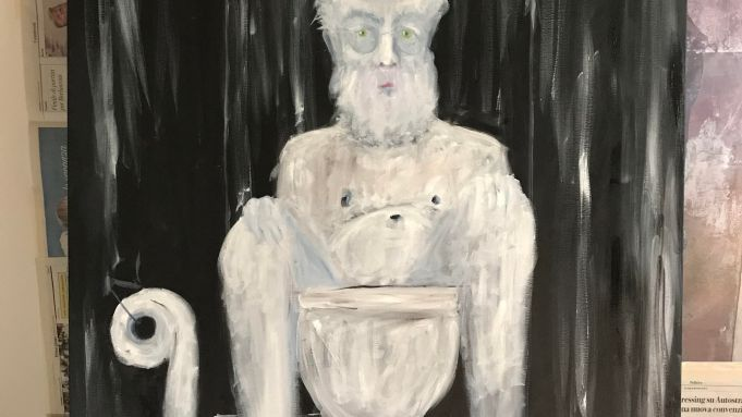 A self-portrait by Francesco Bonami.