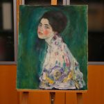 Gustav Klimt's painting 'Portrait of a Lady'.
