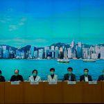 Hong Kong government officials at a