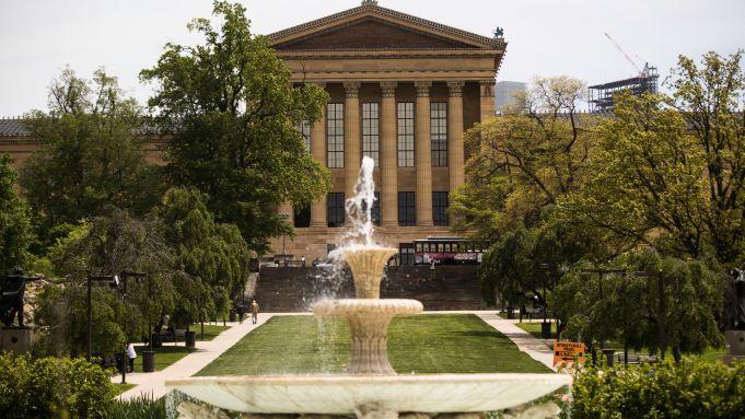 Shown is the Philadelphia Museum of