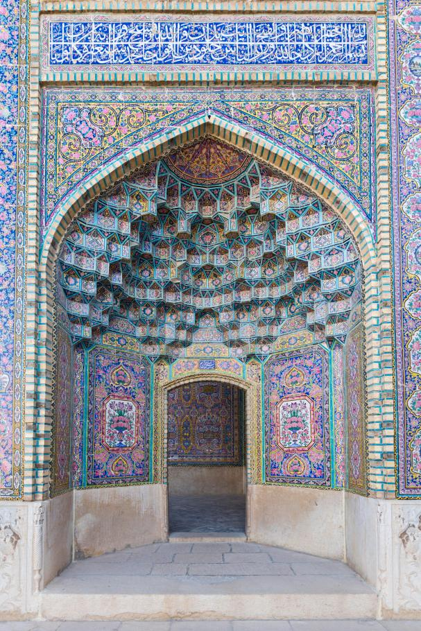 The Nasir-ol-molk Mosque in Shiraz, Iran,