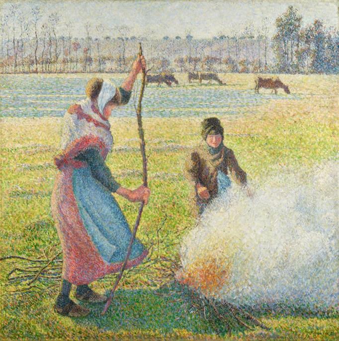 Camille Pissarro, Gelée blanche, jeune paysanne