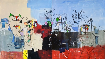 George Condo, 'Downtown New York', 2012.