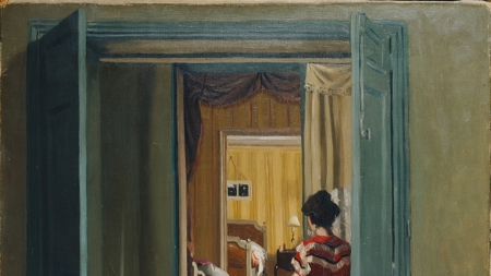 Félix Valloton, Interior with Woman in
