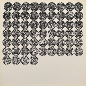 "Untitled lithograph from Nees's series ""Computergrafik Computerplastik,"" 1970"
