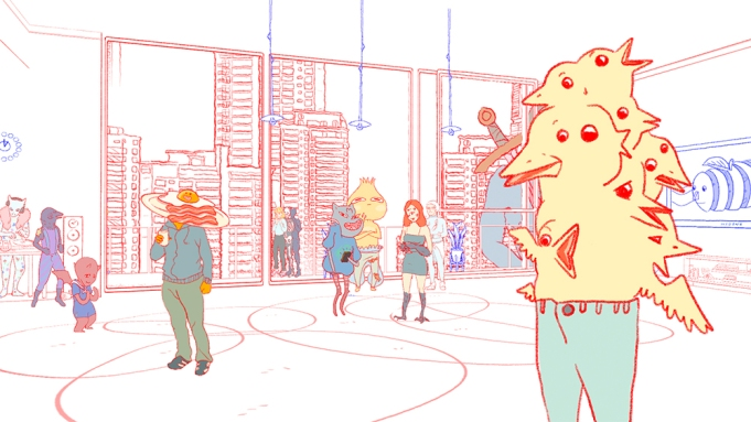 Still from the videogame Small Talk,