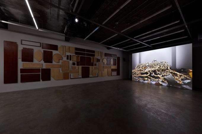 "View of Ed Atkins's exhibition ""I"