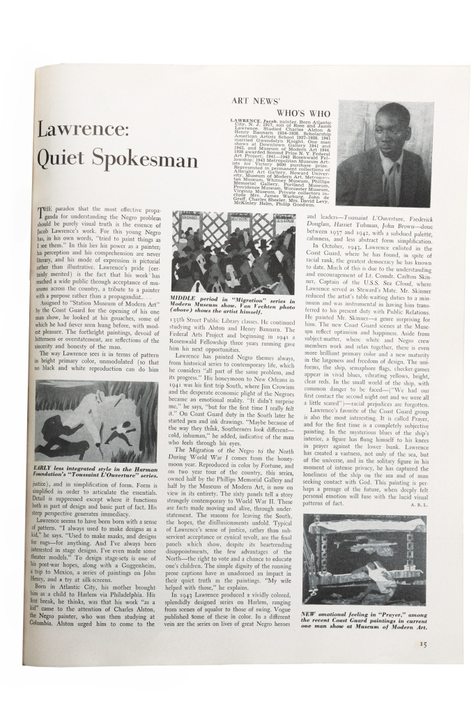 'Everything Was a Muse to Him': A Jacob Lawrence Expert on a 1944 ARTnews Profile of the Artist